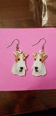 Wire Fox Terrier Dog fun earrings  jewelry FREE SHIPPING! Brand New