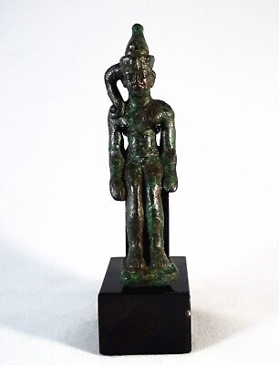 Wonderful Egyptian Bronze Sited Harpocrates Figurine - Horus The Child