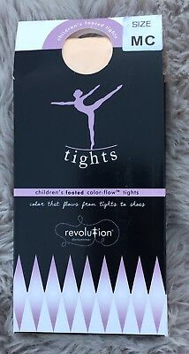Revolution Dancewear Color Flow Footed Tights Classic Prima Pink Child's Medium