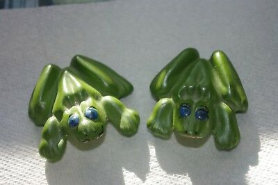 Pair Of Naughty Anatomically Correct Ceramic Frogs~~Boy/girl