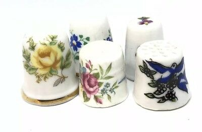 Vtg Antique Porcelain Limoges And Other Thimble Lot