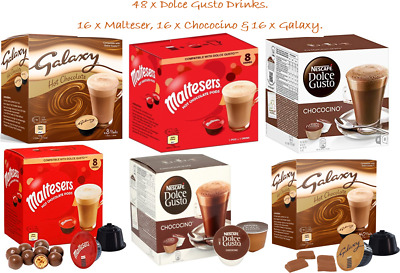 Dolce Gusto Chococino Galaxy Malteser 3 x 16 Drinks {48 Drink Combi Pack}