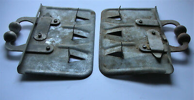 2 Antique Vtg Calf Weaner Old Milk Cow Rustic Primitive Farm Nose Milk Stop/Clip