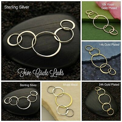 Jewelry Findings Five Circle Links - 5 Styles to Choose From, Jewelry Supplies