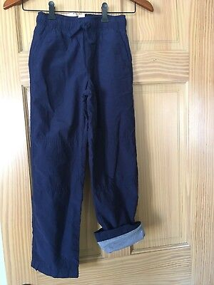 NWT Gymboree Boys Pull on Pants Navy Blue Jersey Lined Gymster Outlet Many Sizes