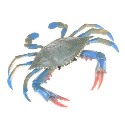 PVC Blue Crab Realistic Sea Animal Model Solid Figure Ocean Kids Toy Gift LB