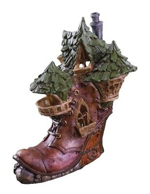 Victorian Trading Co Lace Up Boot Shoe Fairy Garden Cottage