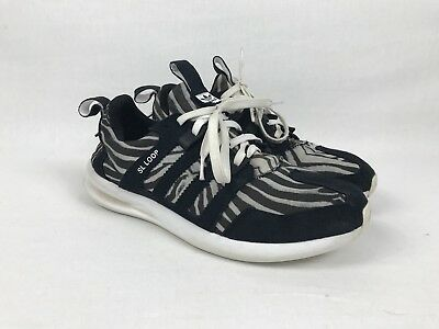 new style 8771a a03f3 Men s Adidas SL Loop Runner Black White Size 11 No Box Worn But Good  Condition