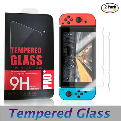 [2-Pack] For Nintendo Switch 2019 Premium Tempered Glass Screen Protector Guard