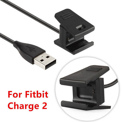 1/2X Charger For Fitbit CHARGE 2 Activity Wristband USB Charging Cable Cord Wire