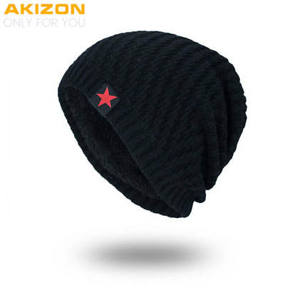 AKIZON 2018 Brand New Winter Autumn Beanies Hat Unisex Warm Soft Skull Knitting