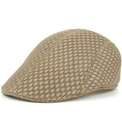 AKIZON New Spring Summer Unisex Mesh Berets Caps Casual Peaked Caps Strip