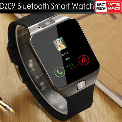 LATEST DZ09 Bluetooth Smart Watch Camera SIM Slot For HTC Samsung Android Phone#