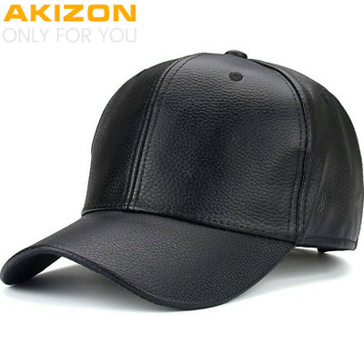 AKIZON 2019 NEW PU Leather Baseball Cap Hip Hop caps gorras Snapback Hat Biker
