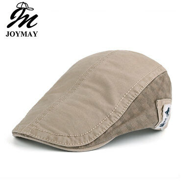 AKIZON New Summer Cotton Berets Caps For Men Casual Peaked Caps Solid color