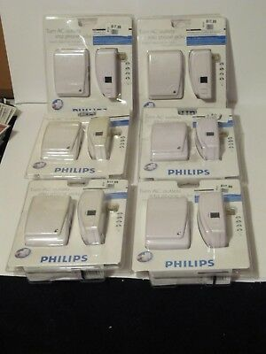 6 Philips Turn AC Outlets Into Phone Jacks PHO900 - TELEPHONE JACK CONVERTER