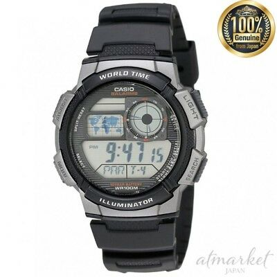 CASIO AE1000W-1BVCF Watch Digital World Time Men's in Box genuine from JAPAN NEW