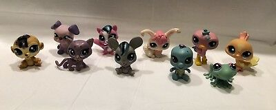 LITTLEST PET SHOP ~ LPS ~ MIXED Lot of 10 Pets ~ PRE-OWNED
