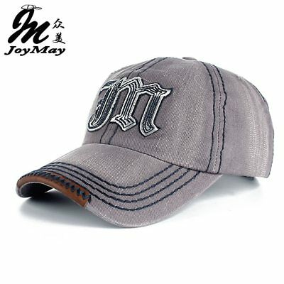 High quality Wholesale Retail JoyMay Cap Embroidery Letter M Cap comfy cap Jean