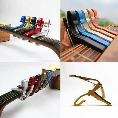 Folk Acoustic Electric Tune Quick Change Trigger Guitar Capo Key Clamp CA