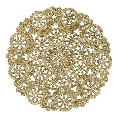 "10"" GOLD Metallic Medallion PAPER DOILIES 