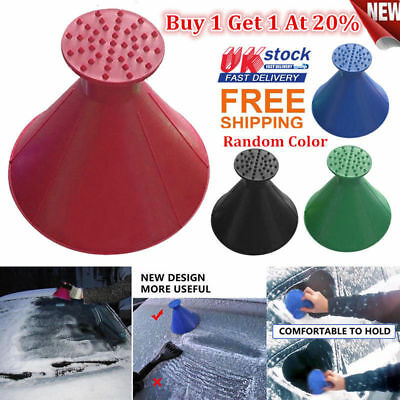 Car Windshield Magic Ice Scraper Tool Cone Shaped Outdoor Funnel Remover Snow ds