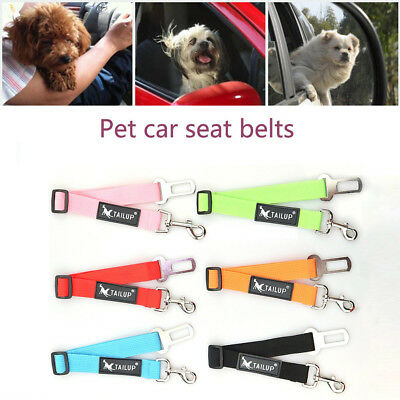 Adjustable Dog Pet Car Safety Seat Belt Harness Restraint Lead Travel Leash L
