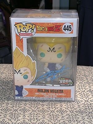 Funko Pop! Dragon Ball Z Majin Vegeta Over 9000.com Exclusive Signed Sabat