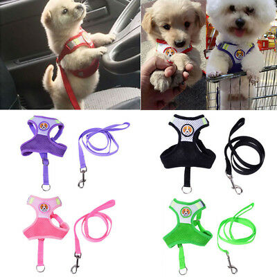 Pets Puppy Dog Mesh Walking Collar Chest Strap Vest Durable Outdoor Harness L
