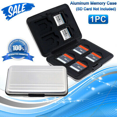 Aluminum Memory Card Wallet 16 Micro SD SDHC Protecter Storage Holder Pouch Case