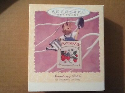 1996 Hallmark Easter Spring Ornament Strawberry Patch Mouse NEW