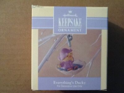 1992 Hallmark Easter Spring Ornament Everything's Ducky NEW