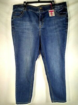 Lane Bryant Straight Fit Skinny Tighter Tummy Womens Jeans Size 24 Short NWT