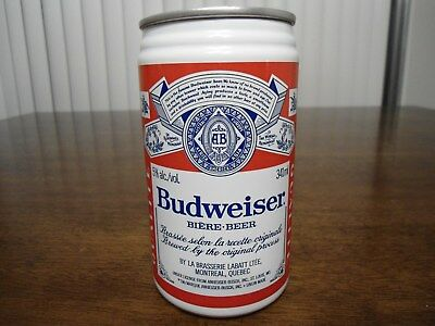 Air Sealed Budweiser CANADA beer can