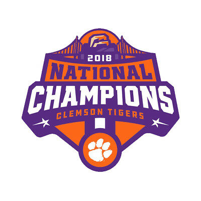 2018 Clemson National Champions Football Decal Sticker Self Adhesive Vinyl