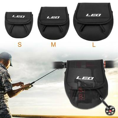 1pc Portable SBR Spinning Fishing Reel Protective Bag Case Cover Holder Pouch