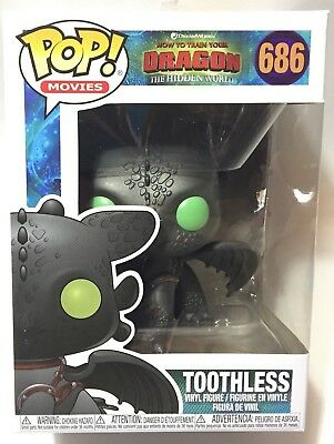 FUNKO Pop How Train Your Dragon 3 Hidden World TOOTHLESS #686 4in Vinyl In Stock