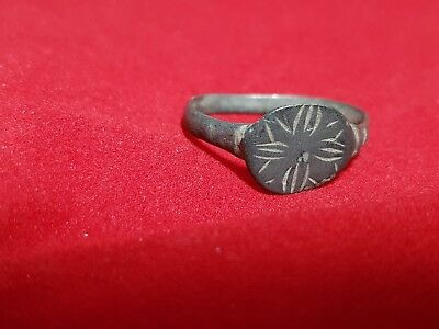 "Medieval Crusaders Period ""holy Land"" Ring With Religious Cross Motif"