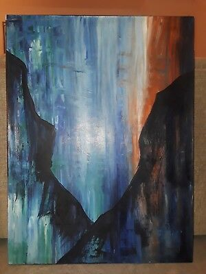 Large Original Modern Fine Art Abstract Canvas Oil Painting