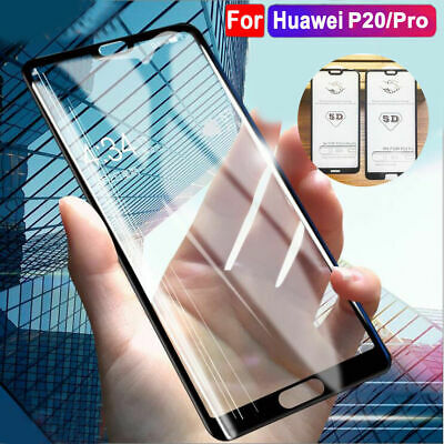 5D Huawei P20 P30 Mate 20 Pro Lite Tempered 9H Full Glass Screen Protector Case