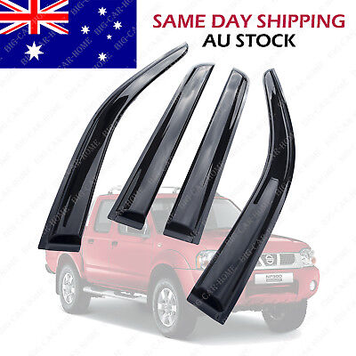 Weather Shields Weathershields Window Visors Dual Cab For Nissan NP300 D23 14-18