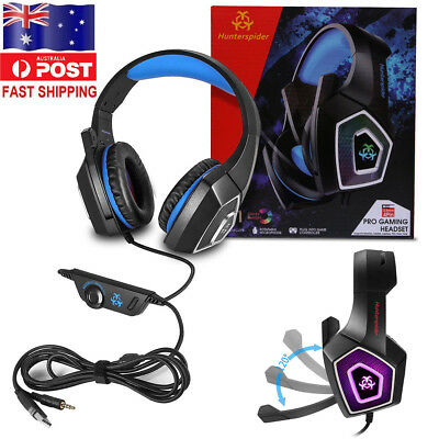 V1 3.5mm Gaming Headset Headphone Earphone For PS3,PS4,Xbox One,PC,NS,3DS, iPad