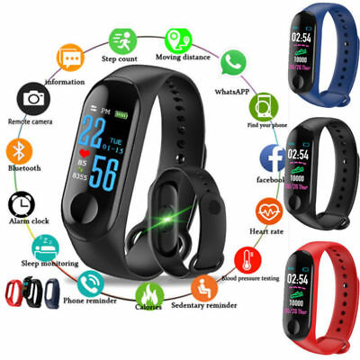 Smart Band Watch Bracelet Fitness Activity Tracker Blood Pressure HeartRate M3 A