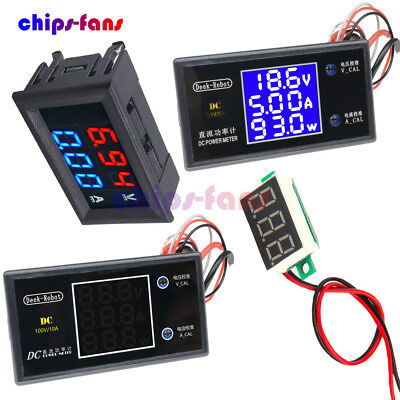 DC 50V 5A 100V 10A Voltage Current Power Meter Digital LCD Voltmeter Ammeter