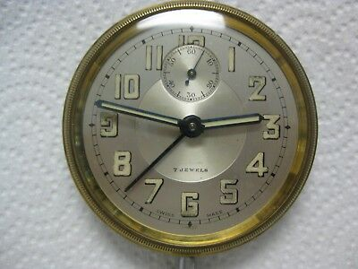 Vintage Swiss made 7 Jewel Travel alarm clock/watch