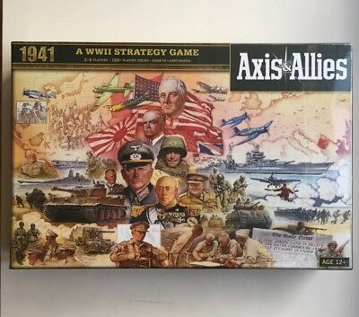 Axis & Allies 1941 Board Game Avalon Hill WW11 Strategy Game 160+ Pieces NEW