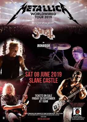 Metallica Slane Castle 8th June 2019 8 / 6 / 19 Ireland GOLDEN CIRCLE TICKETS x2