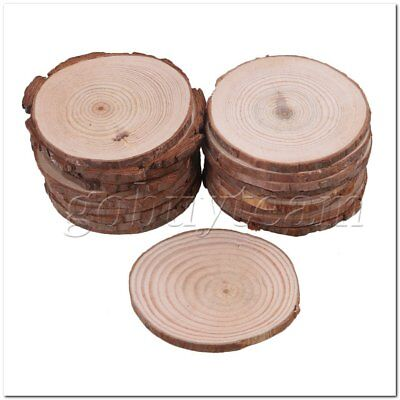 20PCS Natural Wooden Slices Craft Handmade for Wedding Decoration