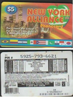 I.d.t Alliance New York $5 Expire 6 Mois Telecarte Prepayee
