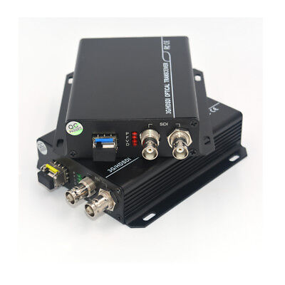 HD SDI Video Audio Over Fiber Optic Media Converters SFP singlemode single LC